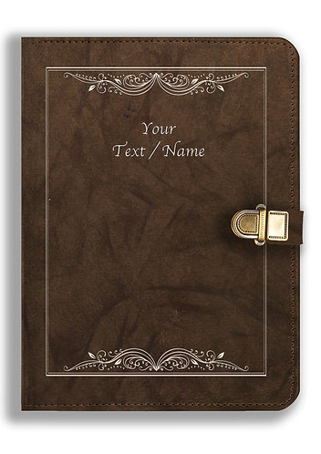 Personalized Leather NoteBook / Diary with Metal Lock (NBLOCK 027)