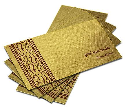 Shagun Envelope on Gold Textured paper(Pack of 10) SEGOLD 004