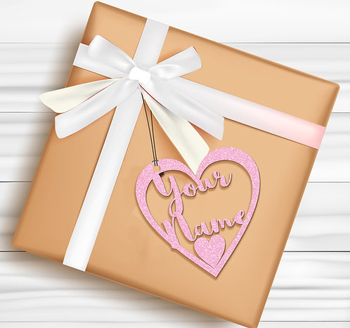 Gift Tags (Pack of 4 / 10)  (GT BPINK GLTR 02)