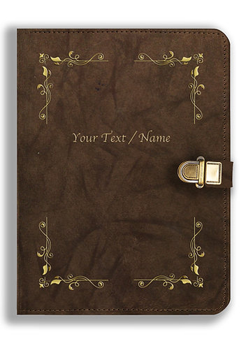 Personalized Leather NoteBook / Diary with Metal Lock (NBLOCK 021)