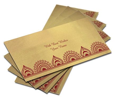 Shagun Envelope on Gold Satin paper(Pack of 10) SESATIN GOLD 007