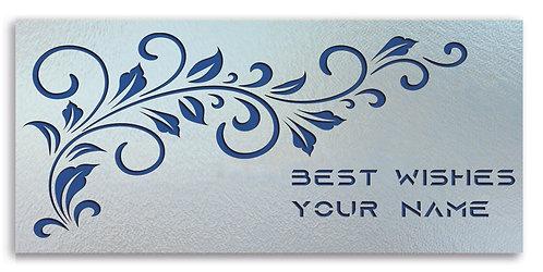 Customized Shagun Envelope on Pearl Finish Card