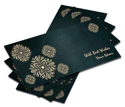 Shagun Envelope on Blue Satin paper(Pack of 10) SESATIN BLUE 006