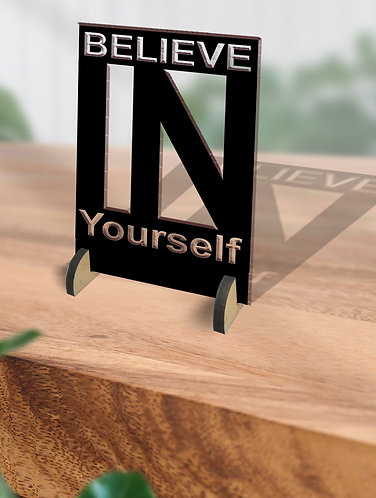 Customized / Non Customized Wooden Quote Laser-cut Typography Plaque (18)