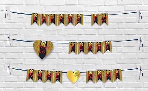Anniversary Bunting Banners (AnBBan 20)