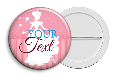 Personalized Button Badges (Pack of 20) (ButnBadge 015)