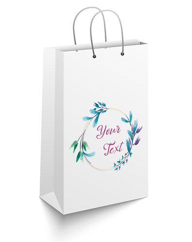 Personalized Paper Gift Bags (RBAG 003)