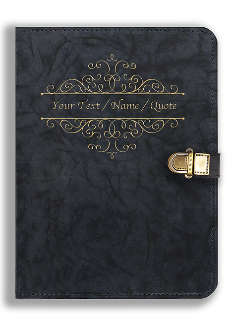 Personalized Leather NoteBook / Diary with Metal Lock (NBLOCK 009)