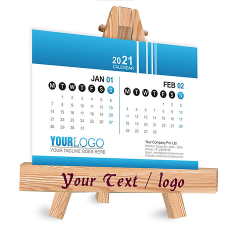 Personalized Table Caledndar on Easel Stand (EaseCal  06)
