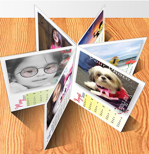 Personalized Star Shape Table Calendar (DCal Star 05)