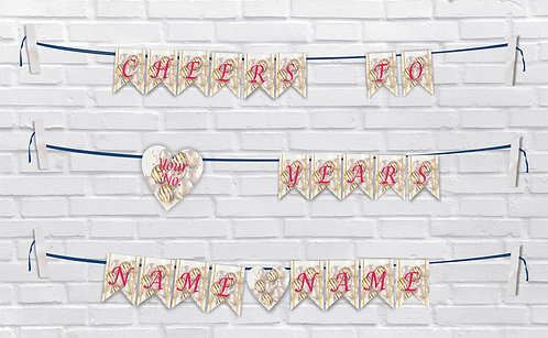 Anniversary Bunting Banners (AnBBan 44)