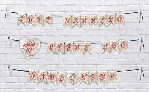Anniversary Bunting Banners (AnBBan 43)