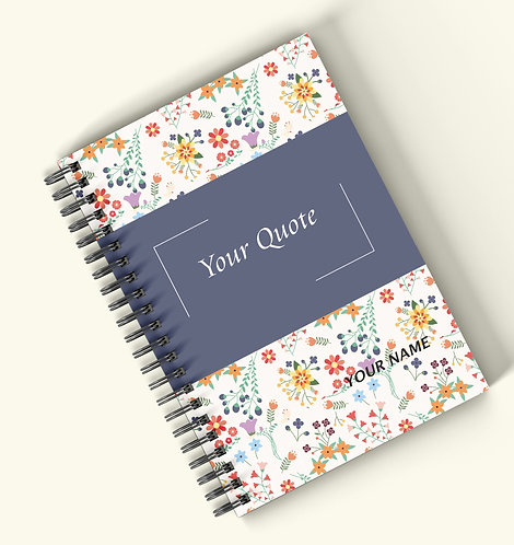 Personalized Hardbound Wiro / Spiral NoteBook / Diary (NBHB Wiro 008)
