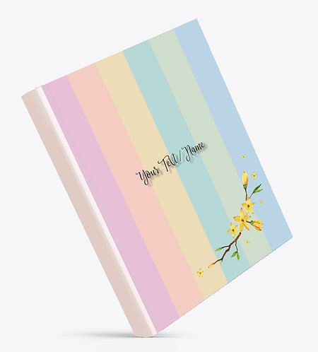 Personalized Hardbound Large NoteBook / Diary (NBHB L 007)