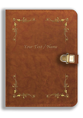 Personalized Leather NoteBook / Diary with Metal Lock (NBLOCK 011)