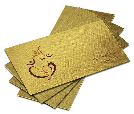 Shagun Envelope on Gold Textured paper(Pack of 10) SEGOLD 003