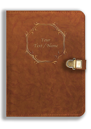 Personalized Leather NoteBook / Diary with Metal Lock (NBLOCK 012)