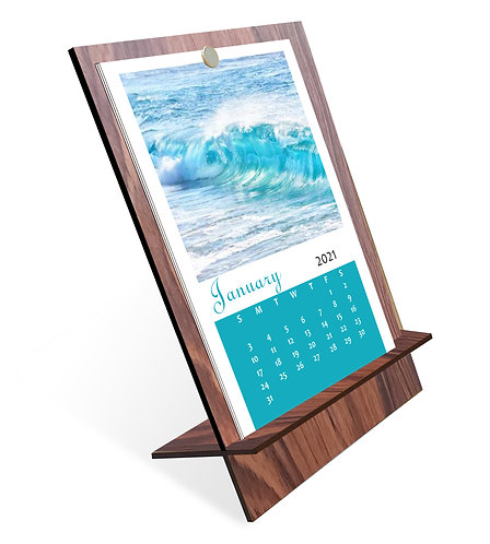 Personalized Table Calendar on MDF Stand (DCal MDF P 01)