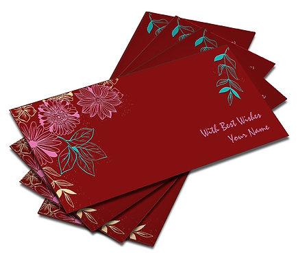 Shagun Envelope on Red Velvet paper(Pack of 10) SEVLVT 010