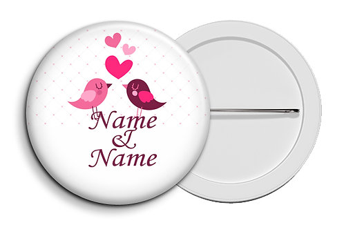 Personalized Button Badges (Pack of 20) (ButnBadge 017)