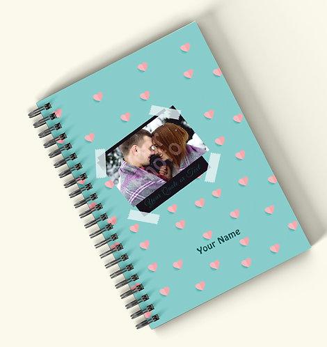 Personalized Hardbound Wiro / Spiral NoteBook / Diary (NBHB Wiro 019)