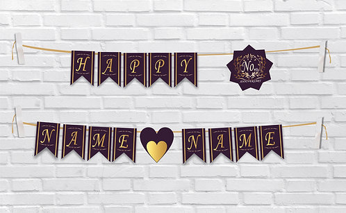 Anniversary Bunting Banners (AnBBan 06)