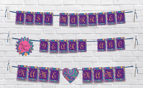 Anniversary Bunting Banners (AnBBan 39)