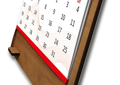 Personalized Table Calendar on MDF Stand (DCal MDF L 05)