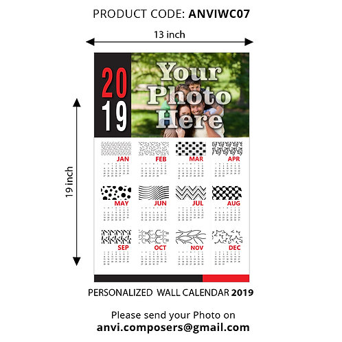 Personalized Wall Calender 07