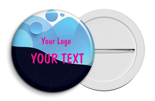 Personalized Button Badges (Pack of 20) (ButnBadge 034)