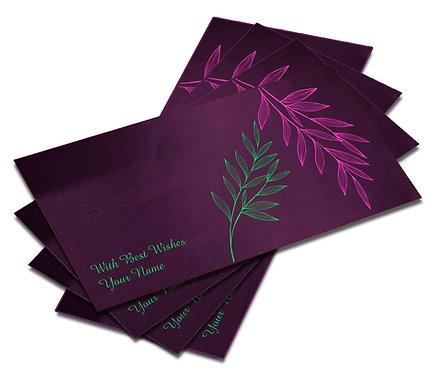 Shagun Envelope on Purple Satin paper(Pack of 10) SESATIN PURPLE 001