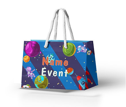 Customized Space Theme Paper Bags (PS Bag B 06)