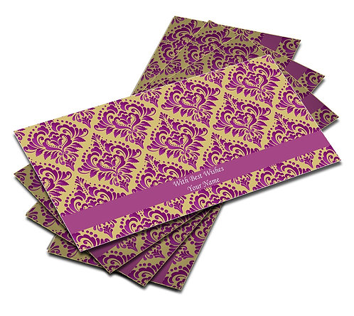 Shagun Envelopes With Front & Back Design (Pack of 10)
