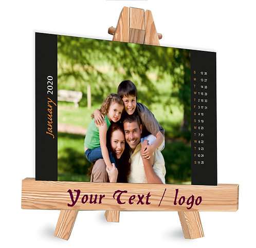 Personalized Table Caledndar on Easel Stand (EaseCal  02)