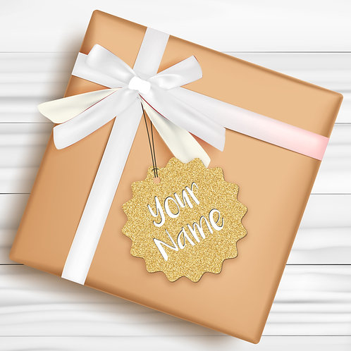 Gift Tags (Pack of 4 / 10)  (GT GOLD GLTR 01)