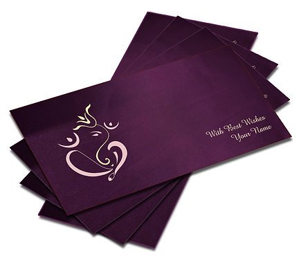 Shagun Envelope on Purple Satin paper(Pack of 10) SESATIN PURPLE 004