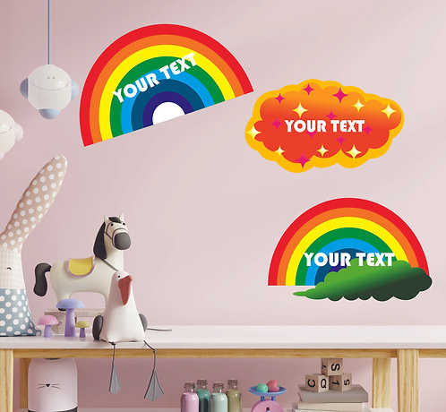 Customized Rainbow Theme CUT-OUT Posters (PS Cut-out Pos 05)