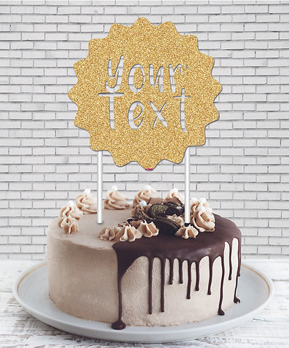 Cake Topper (CT Gold 01)