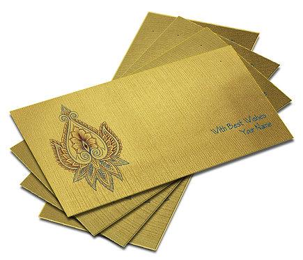 Customized Shagun Envelope on Golden Textured paper