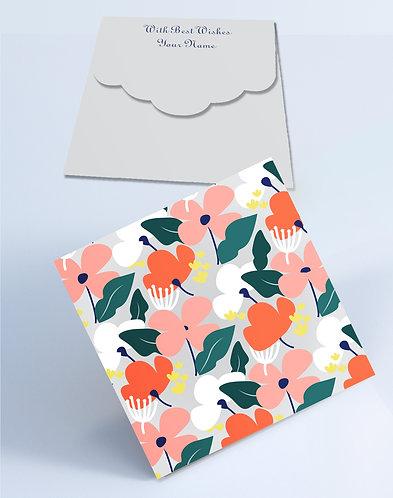 Customized Square Shagun Envelopes (SESmall 01)
