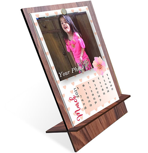 Personalized Table Calendar on MDF Stand (DCal MDF P 04)