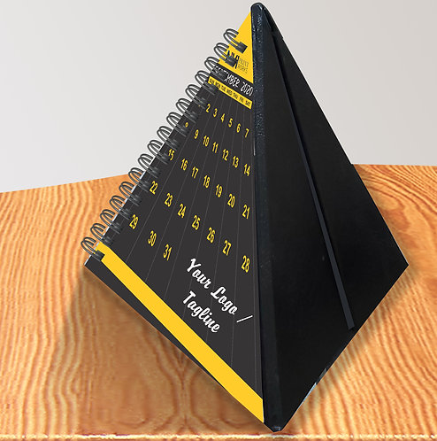 Personalized Pyramid Table Calendar (DCal Tri 03)