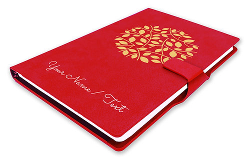 Personalized Hardbound NoteBook / Diary with MAGNETIC Lock (NB Red Mag 001)