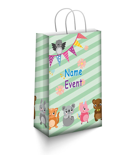 Customized Baby Animal Theme Paper Bags (PS Bag S 01)