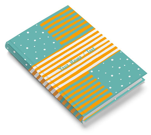 Personalized Pasted Board Notebook / Diary (NBHB 066)
