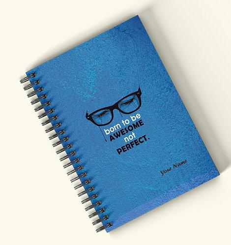 Personalized Hardbound Wiro / Spiral NoteBook / Diary (NBHB Wiro 025)