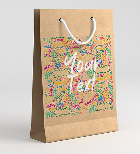 Personalized Paper Gift Bags (RBAG 006)