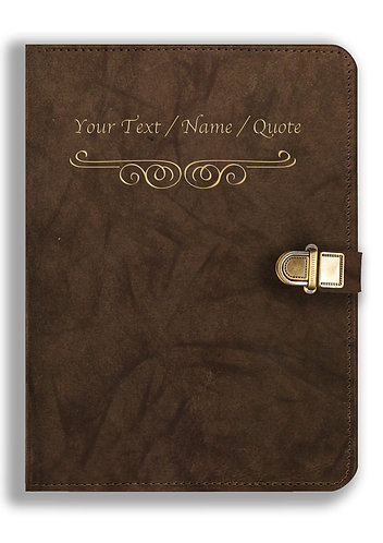 Personalized Leather NoteBook / Diary with Metal Lock (NBLOCK 030)