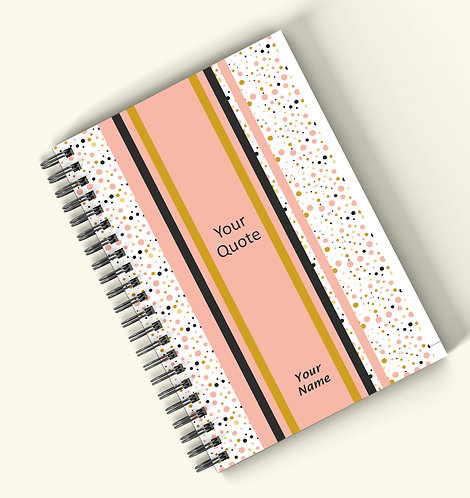 Personalized Hardbound Wiro / Spiral NoteBook / Diary (NBHB Wiro 006)