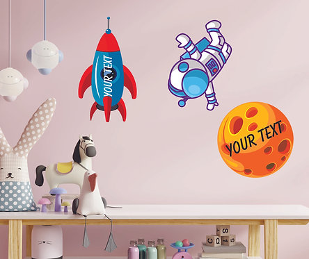 Customized Space Theme CUT-OUT Posters (PS Cut-out Pos 06)